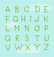 decorative alphabet on blue sky background vector image vector image