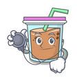doctor bubble tea character cartoon vector image vector image