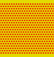 dotted pop-art polka dot background yellow red vector image vector image