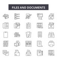 files and documents line icons signs set vector image