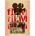 Film festival retro typographical poster vector image vector image