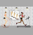 fitness clubtwo women vector image vector image