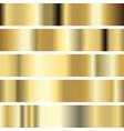 five golden texture metal background vector image vector image