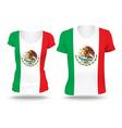 Flag shirt design of Mexico vector image vector image