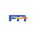 FN initial company logo vector image vector image