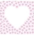 frame cherry blossom heart vector image vector image