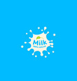 fresh milk splash icon white blot drop vector image vector image