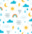 Fun weather pattern vector image vector image