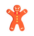 gingerbread man flat abstract element vector image