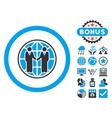 Global Partnership Flat Icon with Bonus vector image vector image