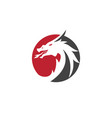 head dragon logo template vector image vector image