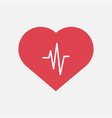 heartbeat icon for medical apps heartbeat icon in vector image