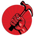 hold a hammer poster vector image