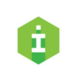 i letter logo concept green flat icon design vector image vector image