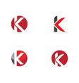k letter arrow vector image