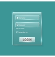 Login and register web glossy form vector image vector image