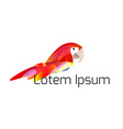logo template with stylized of a parrot with a vector image