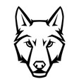 mascot stylized wolf head vector image