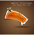 Merry Christmas Elegant Suggestive Background vector image