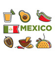 mexico flad and traditional cuisine isolated vector image vector image