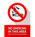 no smoking area vector image