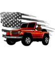 offroad car wirh american vector image