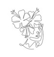 one single line drawing beauty abstract face vector image vector image