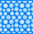 paper snowflakes on blue background christmas vector image vector image