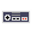pixel art game pad contorller cartoon retro game vector image