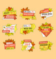 promo tags templates set special autumn discounts vector image vector image