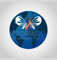 psoriasis awareness month logo icon vector image vector image