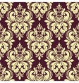 Purple and yellow floral damask seamless pattern vector image vector image