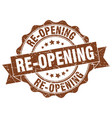 re-opening stamp sign seal vector image vector image