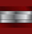 red metal background with perforation and brushed vector image vector image