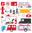 resque services concept for ambulance swat first vector image vector image