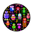 robots in flat style vector image vector image