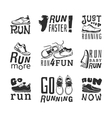 Running labels vector image
