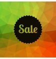 Sale poster Discounts banner template Polygonal vector image vector image