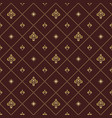 seamless pattern with royal lily vector image vector image