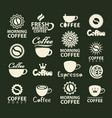 set logos coffee cup and coffee bean vector image