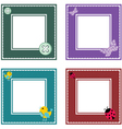 Set of cute frame vector image vector image
