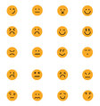 Smiley Colored Icons 6 vector image