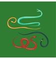 snake reptile cartoon set