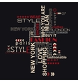 STYLE word cloud concept vector image vector image