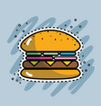 tasty and fresh hamburger fast food vector image