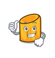 thumbs up rigatoni character cartoon style vector image vector image