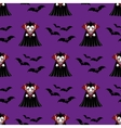 Vampire seamless pattern vector image vector image