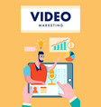 video marketing flyer brochure flat layout vector image vector image