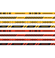 warning stripes coronavirus warning seamless vector image