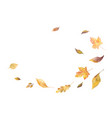 watercolor card with autumn leaves vector image